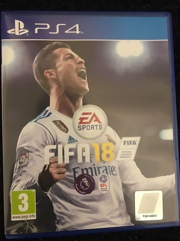 Fifa 18 ps4 very good condition
