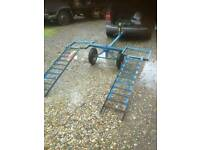 Car dolly recovery trailer