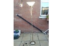 Standard Lamp / Uplight Metal with Glass Shade