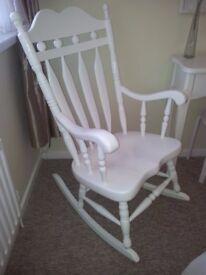 Large White Rocking Chair