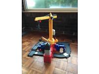 Kids crane and track set