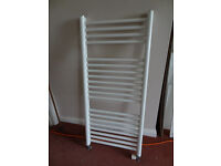 Flat Heated Central Heating Towel Rail Radiator for Bathroom with Wall Fitting Kit