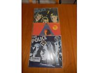 Selection of 3 vinyl records from Police