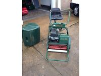 Atco Royale B20 with Ride on Seat Roller and Grass Box