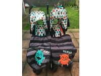 Cosatto Supa Dupa Cuddle Monster Double / Twin Pushchair