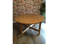 Solid wood extendable dining table, very strong, good condition, ikea