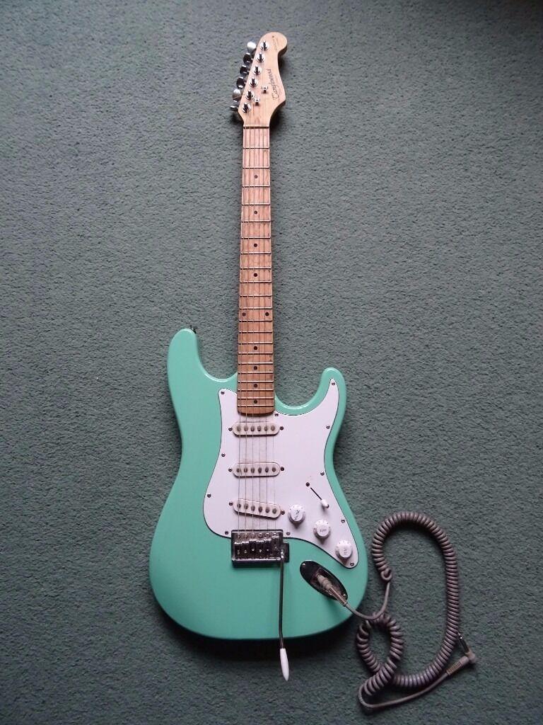 Tanglewood Nevada Baby Blue Strat Shape Electric Guitar Rare Colour