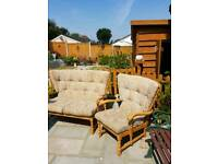 Conservatory settee and chair