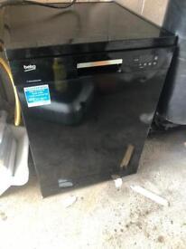 Beko black dishwasher