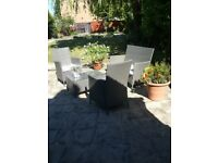Ratten garden chairs and table brand new