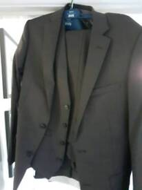 Brown 3 piece suit