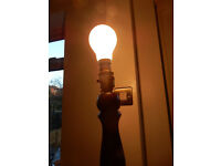 CAN DELIVER Retro Style Decor WORKING Vintage Turned Standard Lamp Base Wooden 1.38 m tall