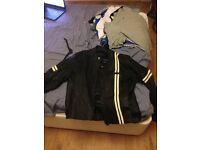 MOTORCYCLE PADDED LEATHER JACKET LARGE FOR MEN