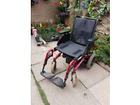 Wheelchair invacare mirage power chair with charger