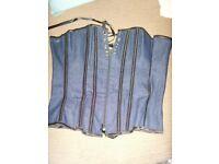 Dark blue denim effect basque s/m