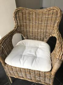 2 x Ikea Wicker chairs