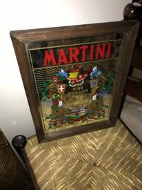 Vintage Martini Advertising Pub Mirror /Martini Bar Mirror - Vino Vermouth.