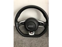 Audi flat bottom MF steering wheel