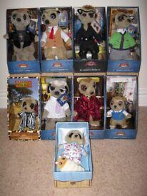 Complete original family of 9 Meerkats. Brand new, in original packaging with all paperwork.