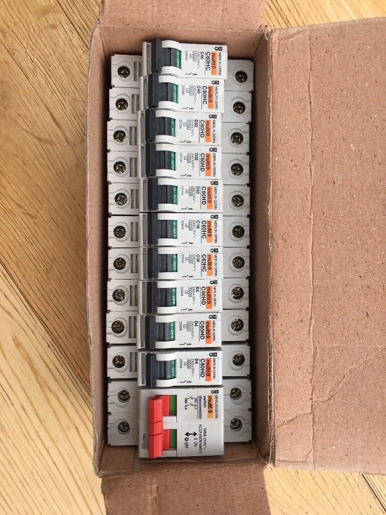 Circuit breakers and isolation switch