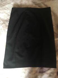 Jet black school skirt