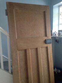 Traditional solid door
