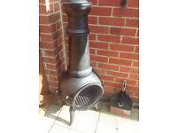 large cast iron chimnia wood burner