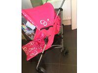 Kiddicare deko pink stroller