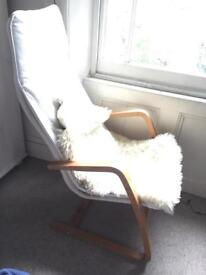 INCREDIBLY COMFORTABLE ARMCHAIR RRP over £100 (with sheepskin)