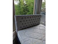 Grey Turin Headboard for double bed