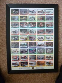MOTOR CYCLE CARDS IN FRAMES