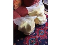 TWO LARGE SACKS OF TOP GRADE 100% MEMORY FOAM PIECES