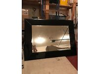 Large Black Glass Mirror in new condition