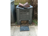FREE compost bin full of compost