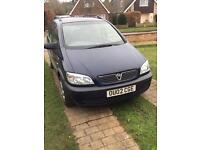 Vauxhall zafiar 7 seater car 2002 moted till summer open to offers of swaps