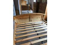Solid Pine Kingsize Bed Frame