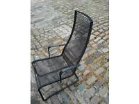 BLACK METAL AND STRONG ELASTIC LOUNGER CHAIR SEAT
