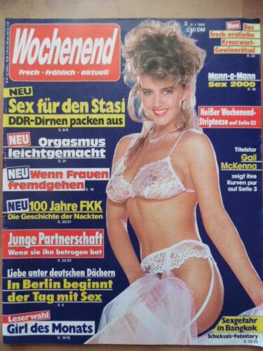 WOCHENEND 3 - 11.1. 1990 * Gail McKenna Bo Derek DDR-Dirnen Ursula Andress FKK