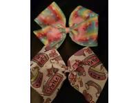 Handmade unicorn hair bows
