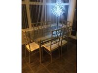 Table and 6chairs