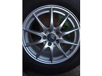 5 x 112 ET 53 New like Alloys wheels And 6mm Michelin Tyres