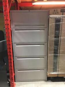 Filing Cabinets - Steelcase 5 Drawer Lateral File Cabinet - 18'' Deep x 30'' Wide