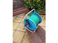 Garden hose on reel Hozelock 30m ultraflex new