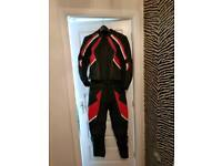 Frank Thomas 2 Piece Motorcycle Leather Suit