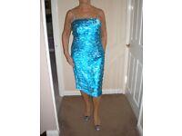 Designer unworn turquoise outfit
