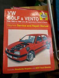 Haynes Manual- Golf Vento