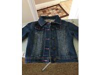 Girls denim jacket 5-6 years
