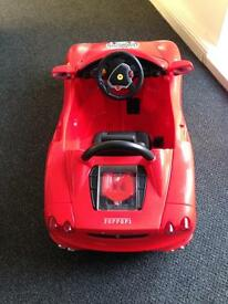 Kids ride on ferrari