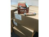 Trek peanut power bars 10g protein.