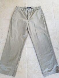 Docker beige chino style trousers
